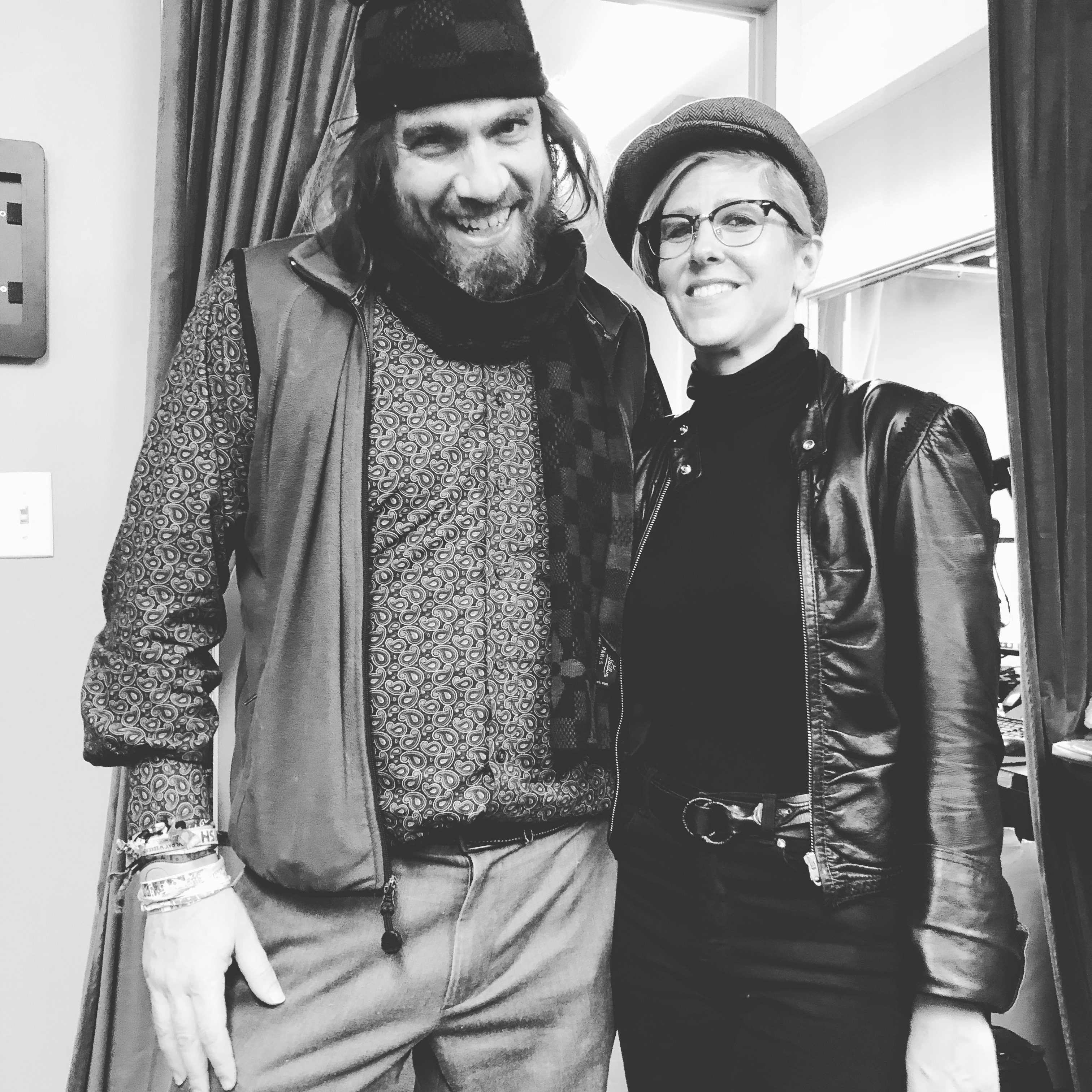 After performance at BOLD TV with percussionist Noah Lehrman NYC 2018