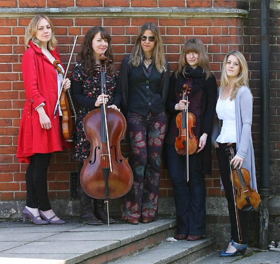 With The Callino Quartet during recording in All Saints Vicarage, East Finchley, London, UK