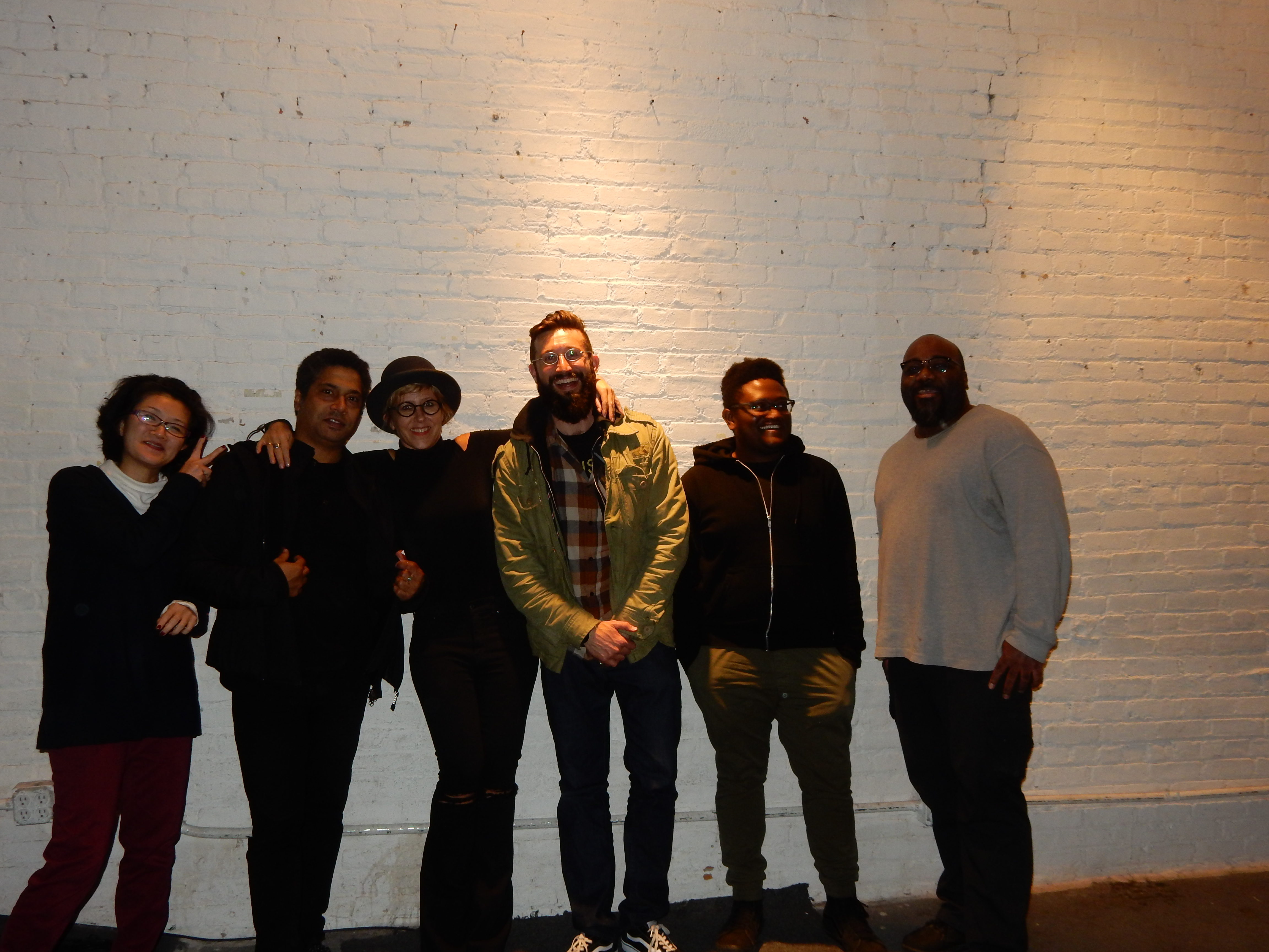 Post ShapeShifter Lab gig hang out with fantastic crew (Brooklyn, N.Y)
