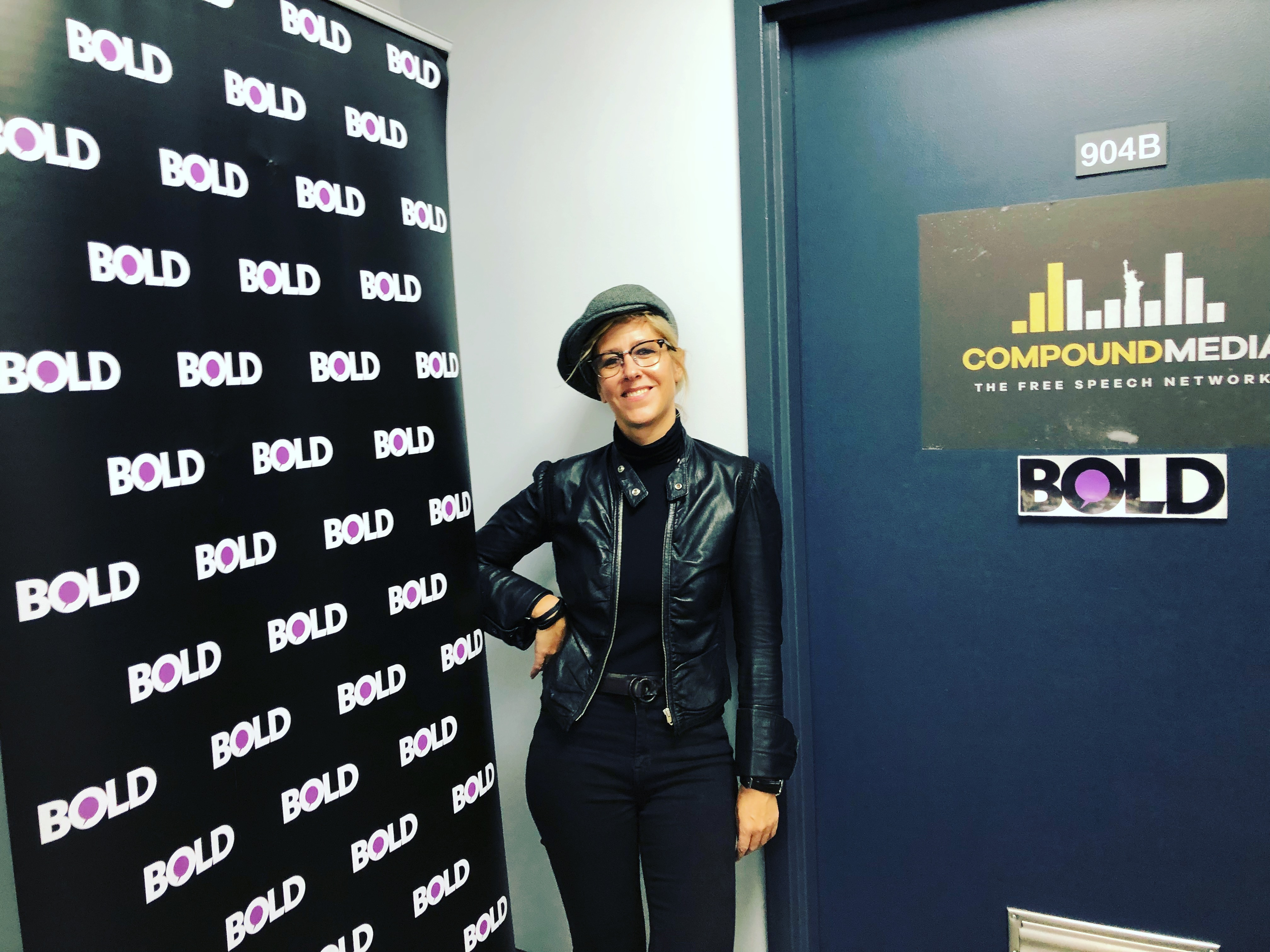 At BOLD TV in NYC