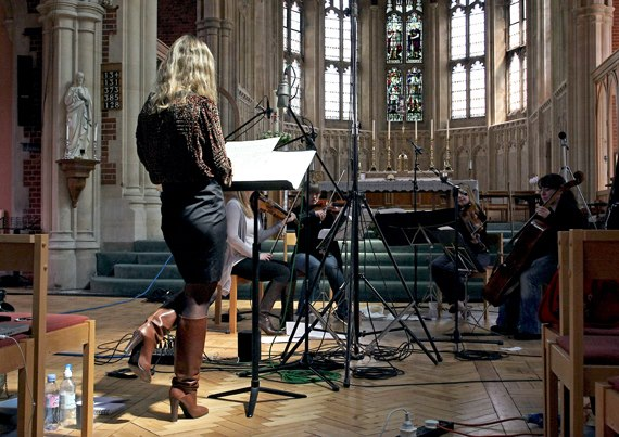 London recording with Michael Haas